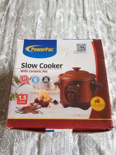 Powerpac 1.5L Slow Cooker With Ceramic Pot 4 Sale.
