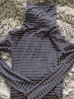 Striped Turtle Neck