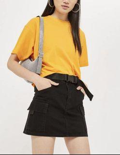 Topshop Utility Skirt With Belt