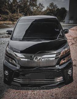 Toyota vellfire continue bayar