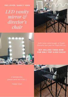 Vanity Mirror with LED lights / Director's Chair