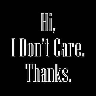 Vector Art: I Don't Care