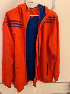 愛迪達防風運動外套
