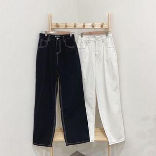 二手 M寬鬆舒服🥥明線落地寬褲(偏大一碼)