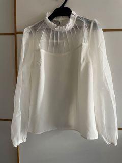 全新白色襯衣