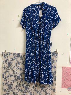 全新!韓系圍裹式短洋裝
