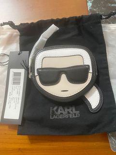 Karl Lagerf老佛爺 拉鍊 零錢包 專櫃精品 配件 logo AL70