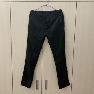 全新未使用 ZARA 深灰色合身長褲 微正式 合成棉