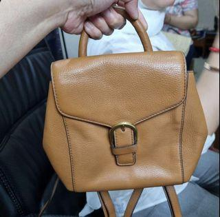 AUTHENTIC FOSSIL LIV MINI BACKPACK TAN