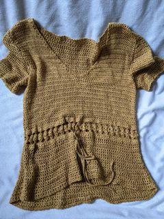 Beautiful Golden Crochet Top