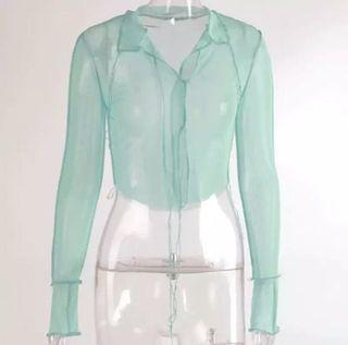 Brand new size small mesh top