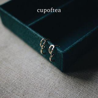 『Cup of Tea』 Maureen 合金小巧水滴形耳環 | 防敏鋼針 鍍金 限量款 耳環 飾品 戒指 配件
