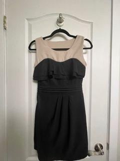 Dress with a ruffle top