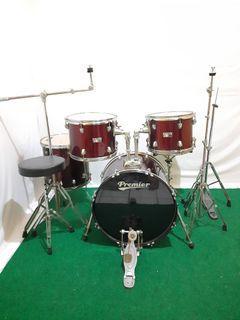 Drum set premier olympic cymbal set baru