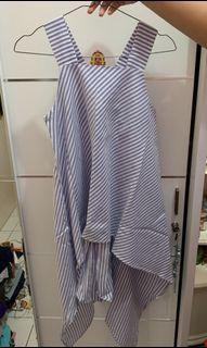 Et Cetera Blue Strips Shirt / Atasan Wanita / Baju Korea [Preloved]