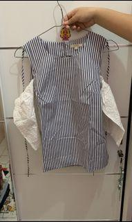 Et Cetera Lace Sleeves Top / Atasan Wanita / Baju Korea [Preloved]