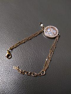 Folli follie 玫瑰金手鍊 珍珠手鍊 幸運草手鍊