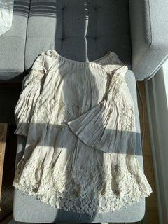 Forever 21/ Beige Off-the-shoulder dress/ Small/ Used/ $10