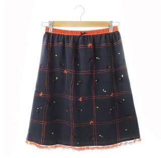Franche Lippee 全新 日本製 小野貓蝴蝶結圖案半截裙