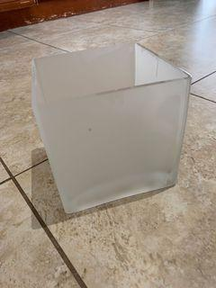 Frosted glass vase/candle holder