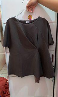 HEBE Dark Brown Top / Atasan Wanita / Baju Korea [Preloved]