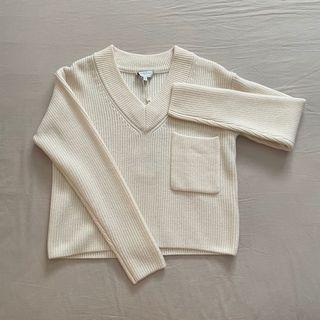 Korean style cream white sweater