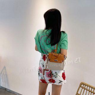 Minimei追加款✪韓系韓版歐美風氣質風百搭休閒    休閒百搭減齡印花短袖t恤女