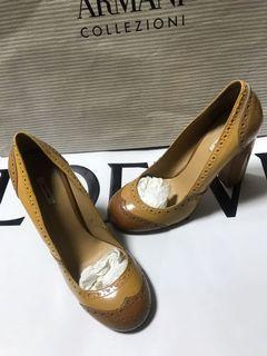 #防疫 Miu miu 真品 雕花 圓頭 古典 極美 高跟鞋