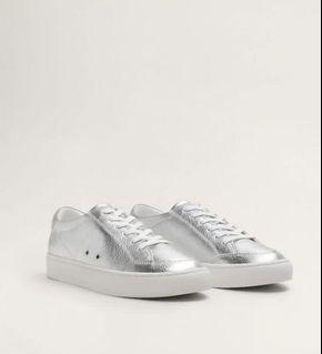 New !! Mango Silver Sneakers