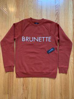 NWT BRUNETTE the label Crewneck Sweatshirt Sz xs/s