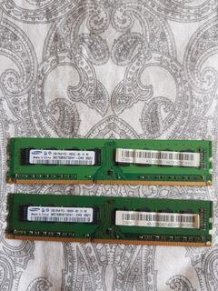 Samsung 2GBx2 2R×8 DDR3 10600U Ram 4 Sale.
