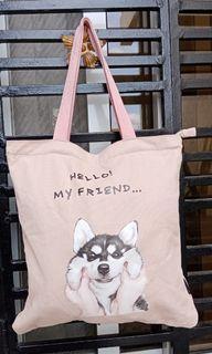 Shouder bag with dog