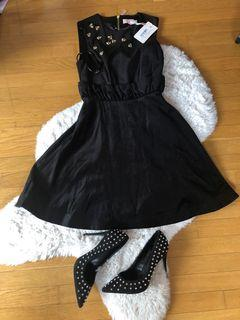 Ted Baker dress and Aldo heels