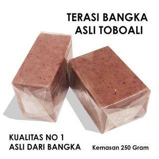 TERASI BANGKA ASLI TOBOALI 250Gr/TERASI BANGKA/TERASI ENAK/TERASI LEZAT/TERASI MURAH/TERASI HOME INDUSTRI/BUMBU DAPUR