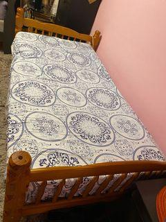 Twin bed frame and mattress set $100 all together