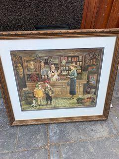 Vintage framed artwork
