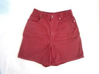 VINTAGE High rise denim jean shorts