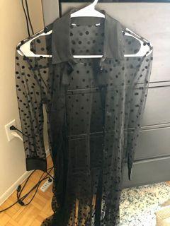 Zara Black Maxi Cover Up - S