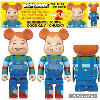 【預訂21年11月】Good Guy & Chucky BE@RBRICK 1000% (¥78,000)《Child's Play 2 異靈七殺/娃鬼回魂2》
