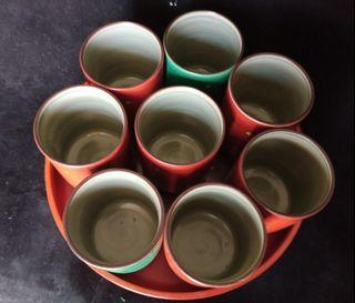 日本茶杯茶盤