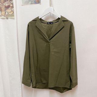 正韓 墨綠色襯衫