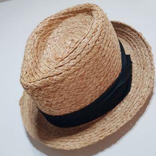 原價500以上復古英倫 天然拉菲草時尚草帽 防曬遮陽帽 爵士小禮帽