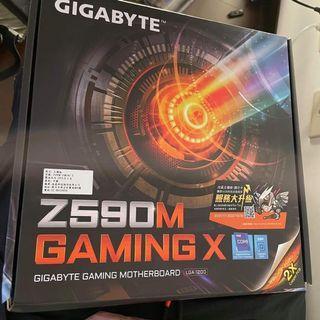 全新技嘉 Z590M gaming X主機板(全新未拆封)