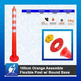 AFP-100PB 100CM Orange Assemble Flexible Post (Round Base)