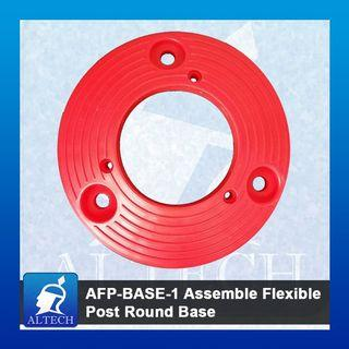 AFP-BASE-1 Assemble Flexible Post Round Base (Orange)