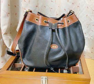 日本中古正品Bally 貝利復古水桶包 真皮水桶包 古董包復古包BALLY 斜背包#618