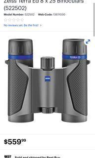 BRAND NEW Zeiss Terra Ed 8 x 25 Binoculars (522502)