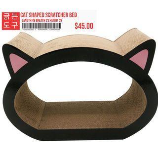 Cat Shape Fun Scratcher Bed Lounge