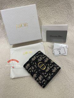 「防疫優惠」Christian Dior MONTAIGNE LOTUS提花小錢夾