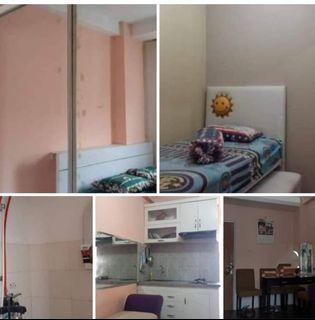 Dijual 1 unit apartemen Cibubur lt 18 Tipe 2 bedroom full furnish lb 34mtr
